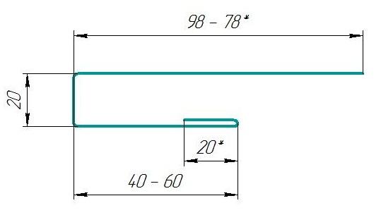 Торцевая планка ТП-178